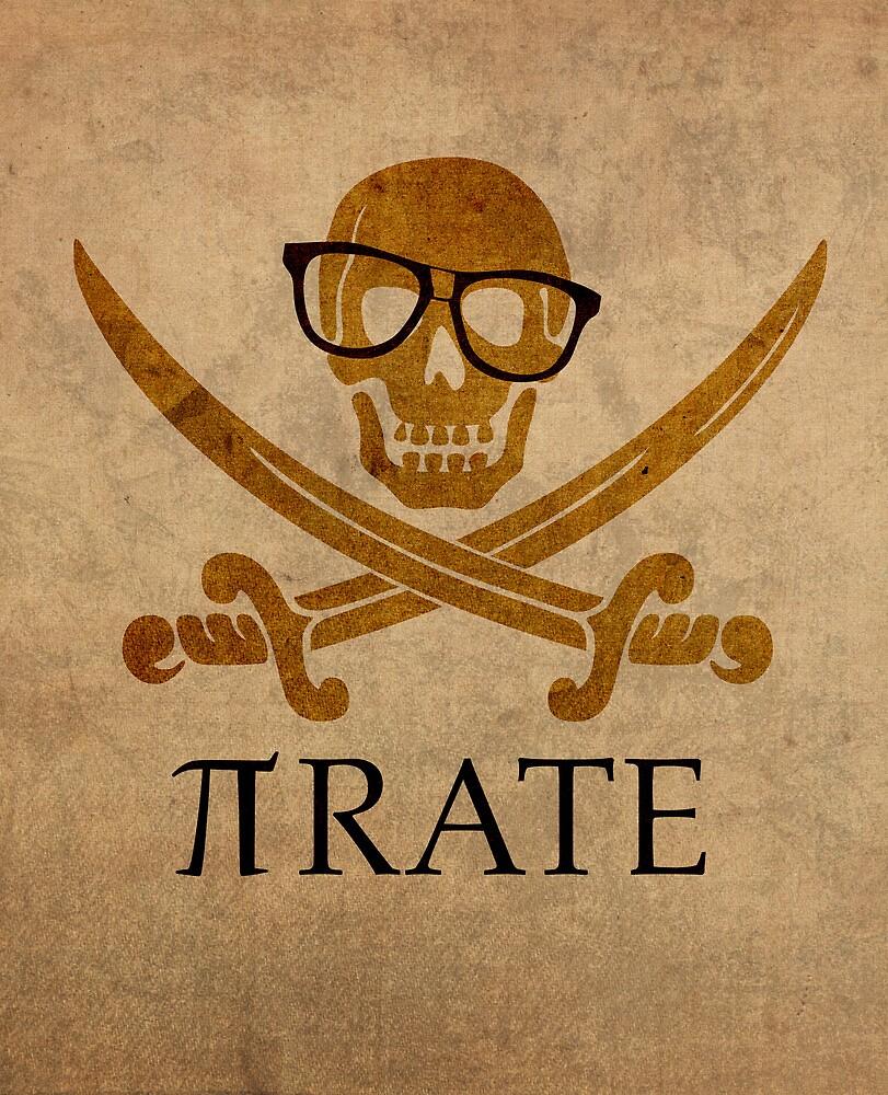 Pirate Humor Math Number Pi Nerd Poster by scienceispun
