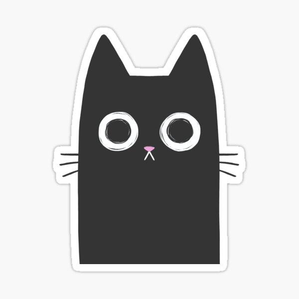 Staring Black Cat Sticker