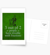 Fractions Math Humor Pun Nerd Poster Postkarten