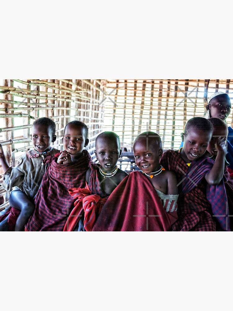 Africa Adventures 4239 Portrait of Young Maasai African Kids Tanzania by neptuneimages