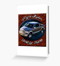 Dodge Ram Truck Night Rider Greeting Card