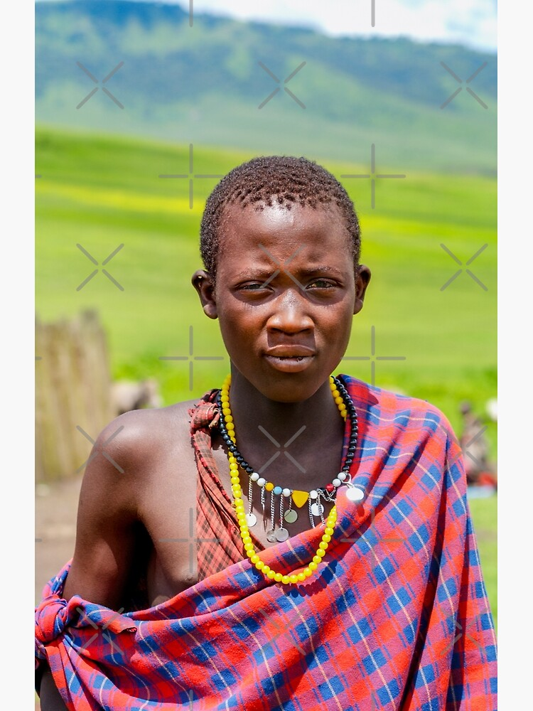 Portrait of Young Maasai 4300 • East Africa Safari Adventures  by neptuneimages
