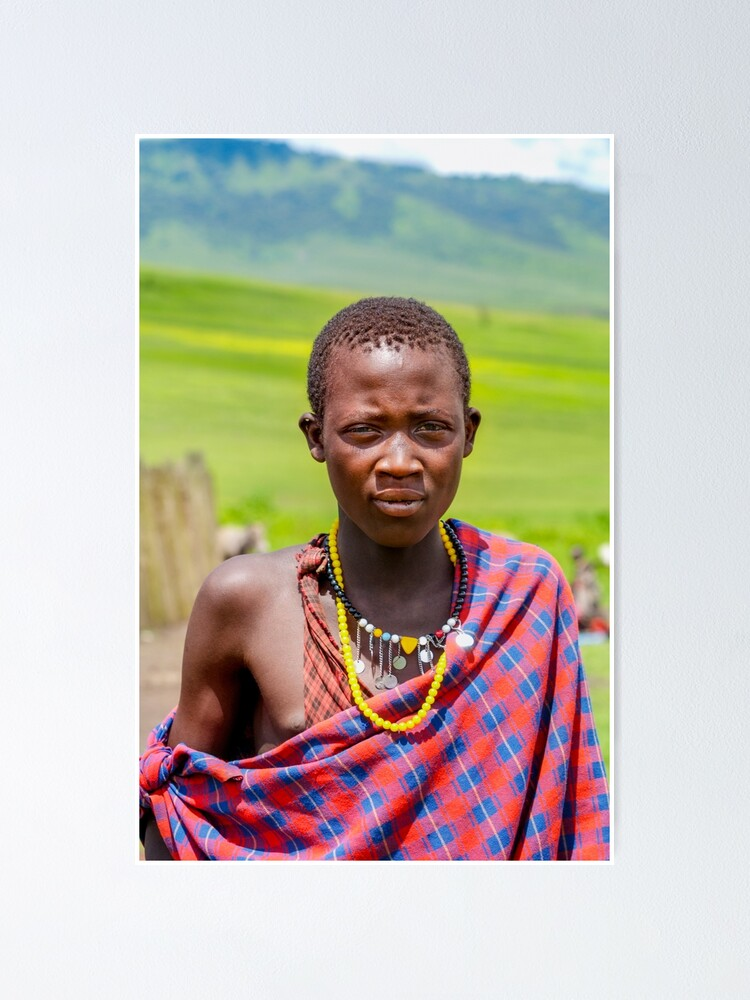 Alternate view of Portrait of Young Maasai 4300 • East Africa Safari Adventures  Poster