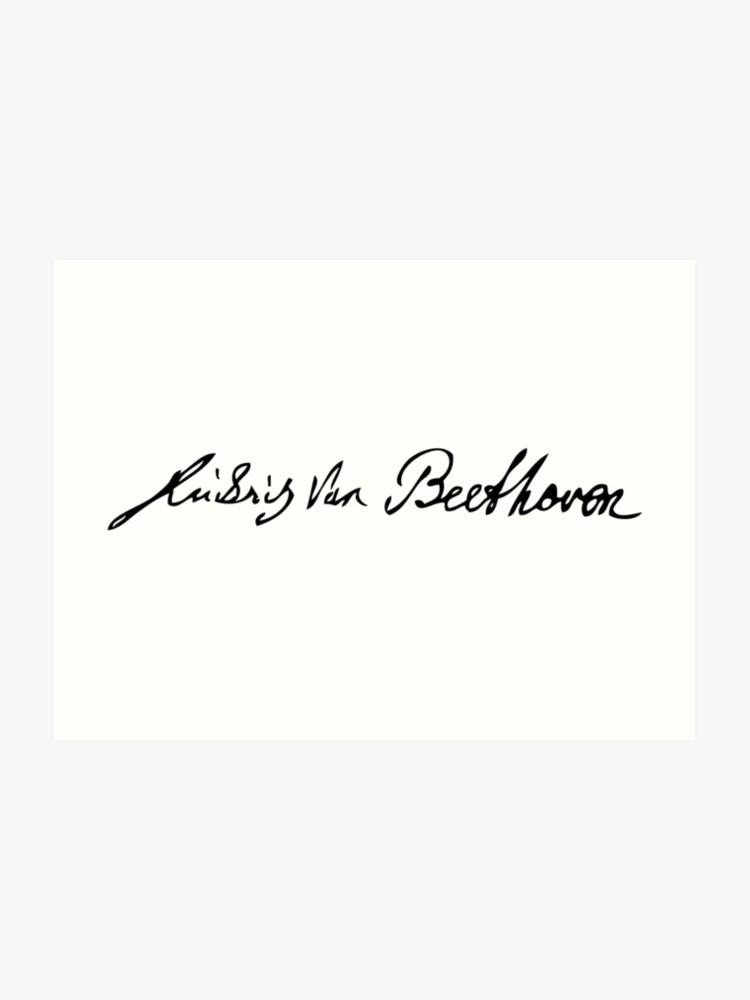 Ludwig Van Beethoven Signature | Art Print