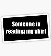 Literacy T-Shirt Sticker