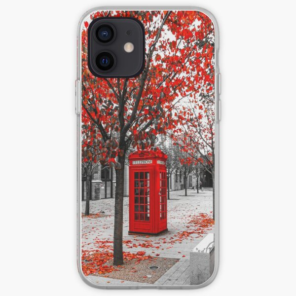 Red Phone Box London iPhone Soft Case