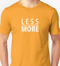 Less Is More White Mies Van Der Rohe Architecture Tshirt T-Shirt