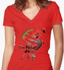 Mega Scizor Evolution Women's Fitted V-Neck T-Shirt