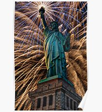 Liberty Fireworks Poster