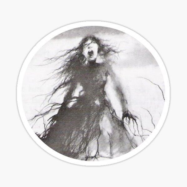 The Girl Who Stood on the Grave Sticker