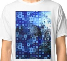 Abstract blue winter frost  Classic T-Shirt