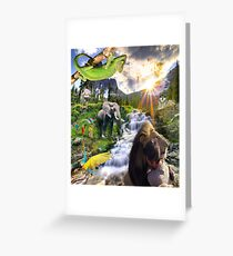 paradise - new world Greeting Card