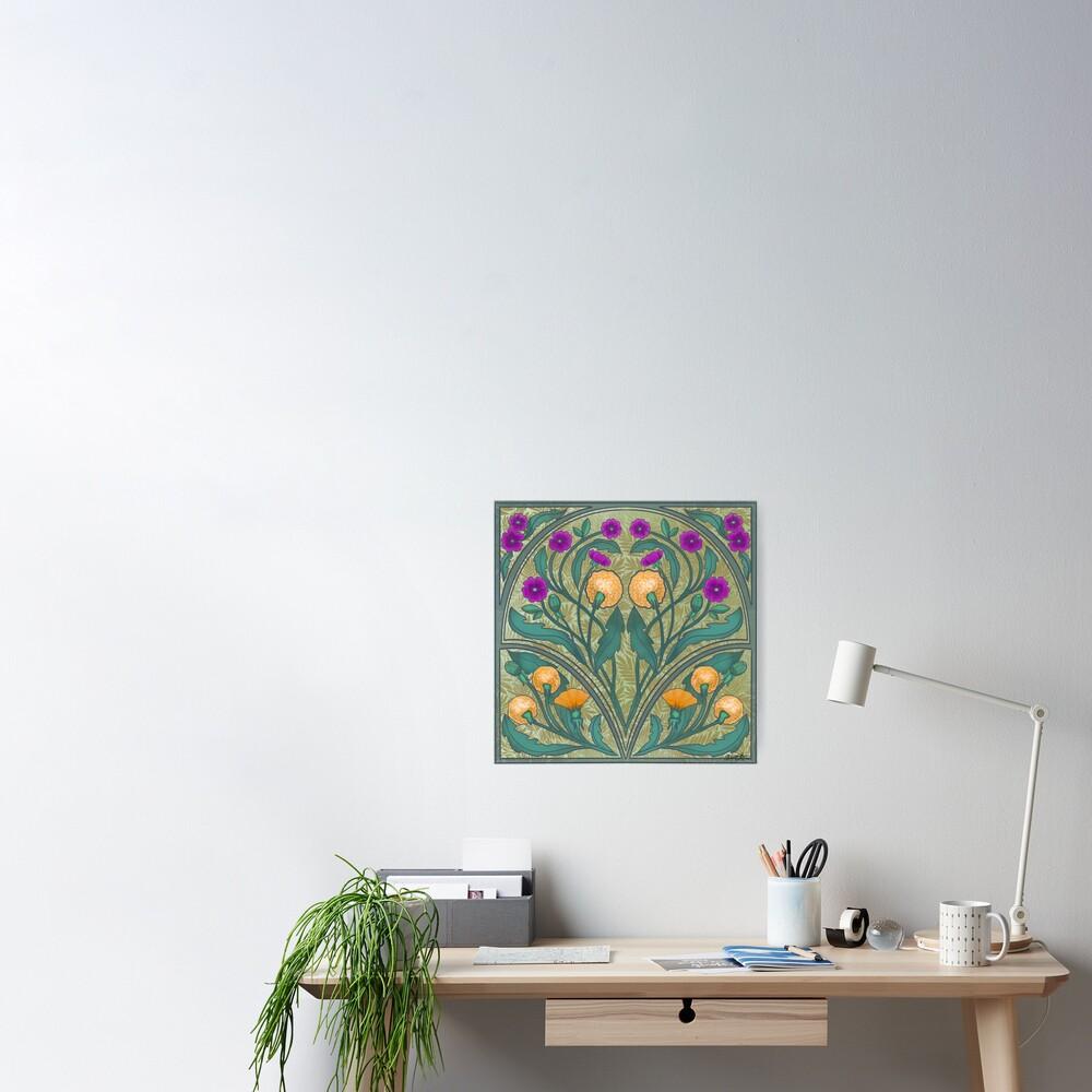 Dandelion and Primrose Poster