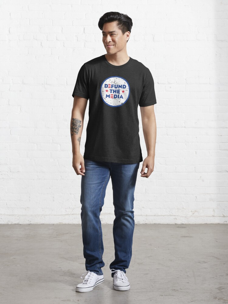 Alternate view of DEFUND THE MEDIA Essential T-Shirt