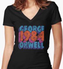 1984 Women's Fitted V-Neck T-Shirt
