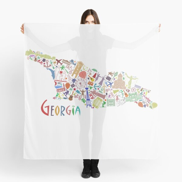 Ikonenhafter Georgia-Kartenaufkleber Tuch