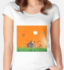 What's going on in the jungle? Women's Fitted Scoop T-Shirt