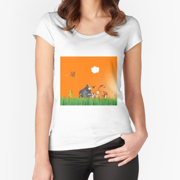 What's going on in the jungle? Fitted Scoop T-Shirt