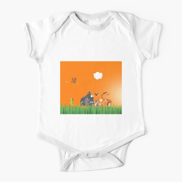 What's going on in the jungle? Short Sleeve Baby One-Piece