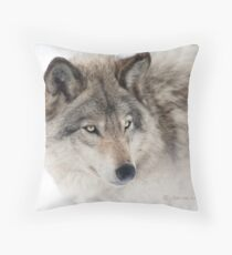 ...see you next week my friend Wolf.... Throw Pillow