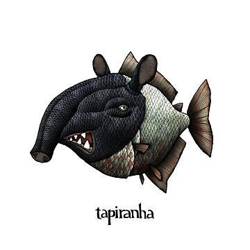 Tapiranha Illustration by mikelevett