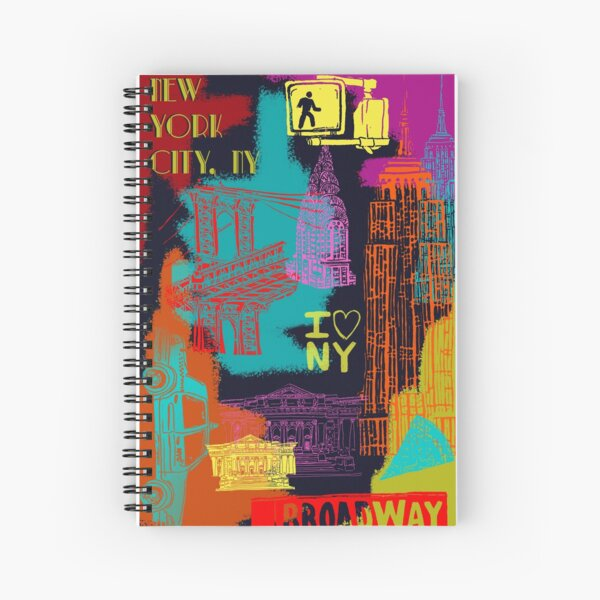 New York City Lights Spiral Notebook