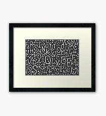 Chalkboard alphabet letters pattern Framed Print
