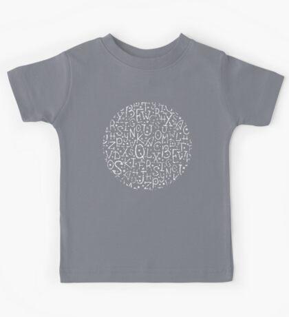 Chalkboard alphabet letters pattern Kids Clothes