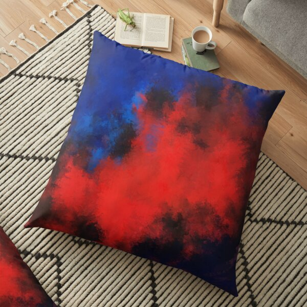 Red explosion Floor Pillow