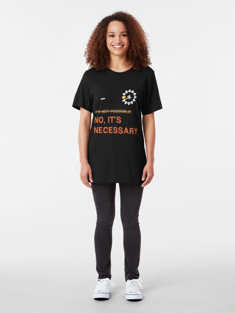 "Alternate view of Interstellar Docking: ""It's Necessary"" Slim Fit T-Shirt"