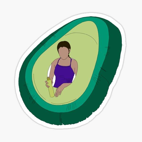 avocado floatie (FDL) Sticker