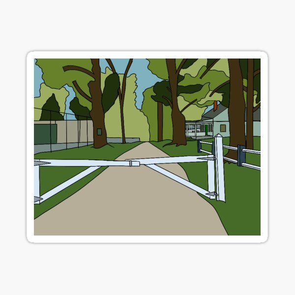 camp road (FDL) Sticker