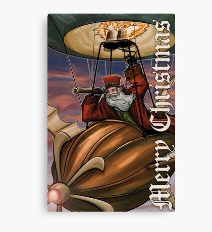 Steampunk Santa Claus Canvas Print