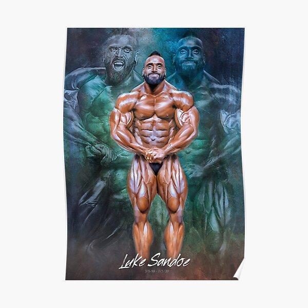 Luke Sandoe Bodybuilding Artwork Poster