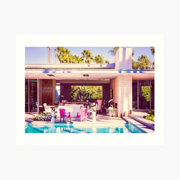 Affluent Opulent 2298 Mid-Century Modern Palm Springs Architecture Art Print
