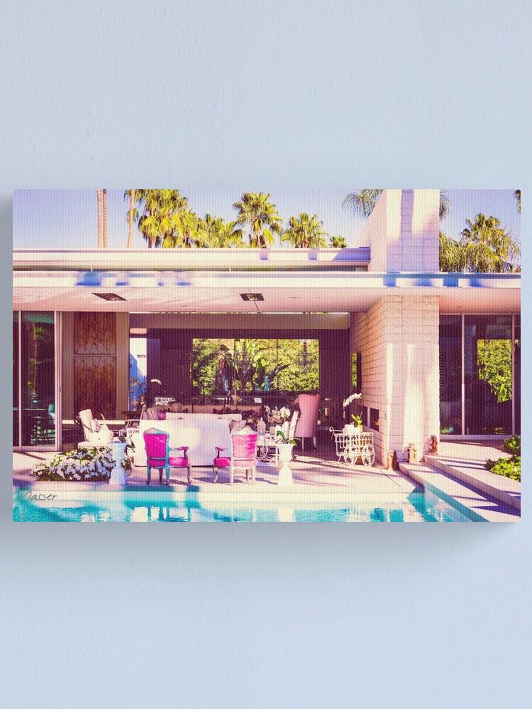 Alternate view of Affluent Opulent 2298 Mid-Century Modern Palm Springs Architecture Canvas Print