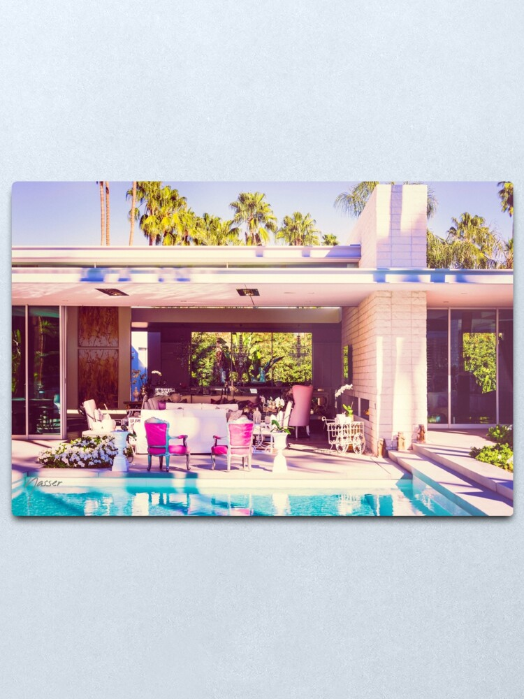 Alternate view of Affluent Opulent 2298 Mid-Century Modern Palm Springs Architecture Metal Print