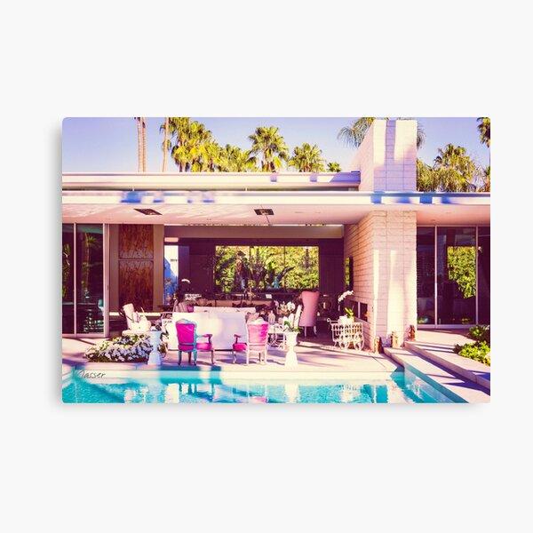 Affluent Opulent 2298 Mid-Century Modern Palm Springs Architecture Canvas Print