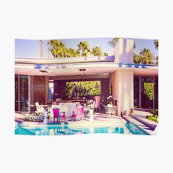 Affluent Opulent 2298 Mid-Century Modern Palm Springs Architecture Poster
