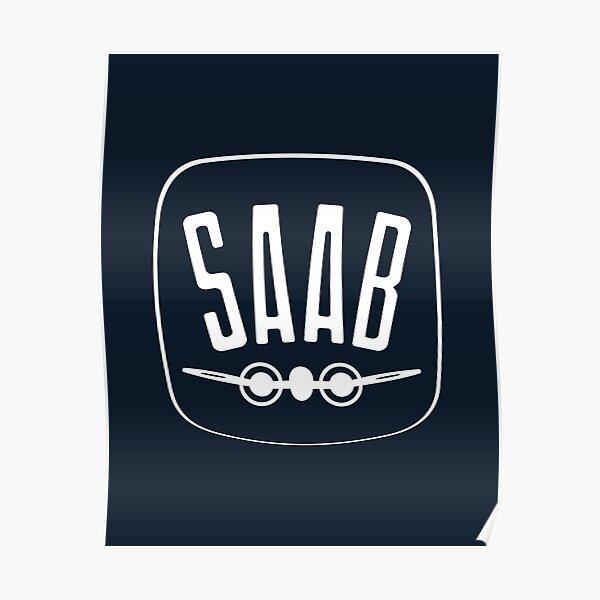 SAAB - 1949 Logo - Retro Vintage Swedish Car Manufacturer Poster