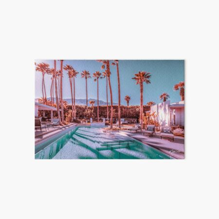 Affluent Luxe Style 2262 Mid-Century Modern Estate Palm Springs Architecture Art Board Print