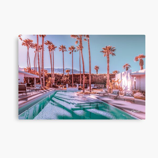 Affluent Luxe Style 2262 Mid-Century Modern Estate Palm Springs Architecture Metal Print