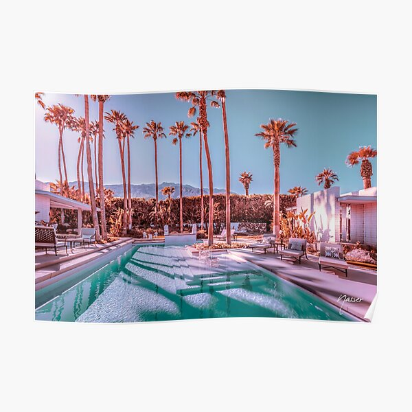Affluent Luxe Style 2262 Mid-Century Modern Estate Palm Springs Architecture Poster