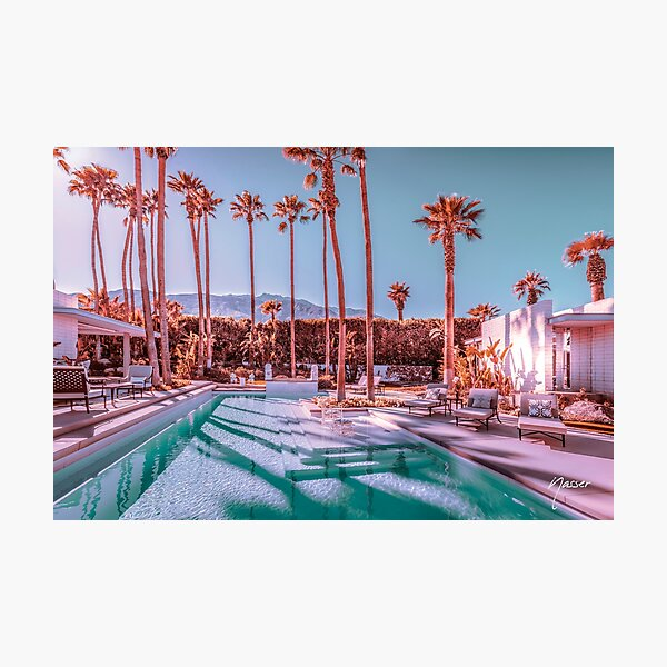 Affluent Luxe Style 2262 Mid-Century Modern Estate Palm Springs Architecture Photographic Print