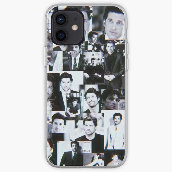 Collage de Patrick Dempsey Funda blanda para iPhone