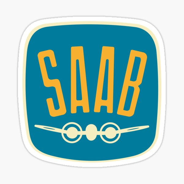 Saab Retro Vintage Logo - 1949 Sticker