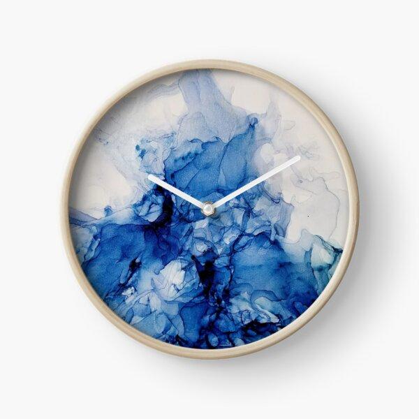 Bold Splash_ Abstract Painting Clock