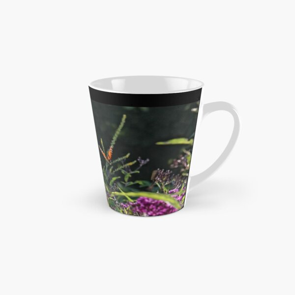 Monarch Butterfly and Tiger Swallowtail among the Ironweed Tall Mug