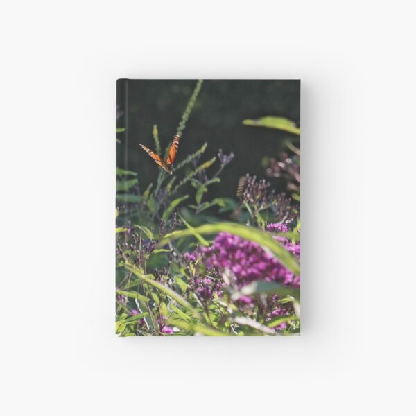 Monarch Butterfly and Tiger Swallowtail among the Ironweed Hardcover Journal