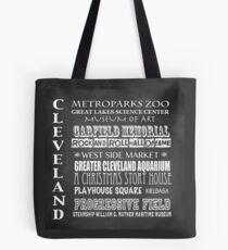 Cleveland Ohio Famous Landmarks Tote Bag